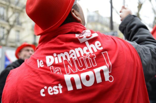 TRAVAIL du DIMANCHE : les syndicats PROTESTENT contre les zones retenues à PARIS