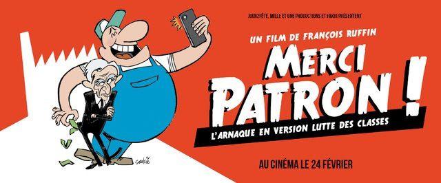 Le FILM « MERCI PATRON » dans les salles parisiennes et d'Ile-de-France