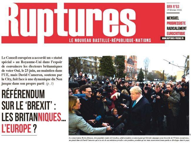 RUPTURES, le journal indépendant, progressiste et radicalement eurocritique: ABONNEZ-VOUS VITE !