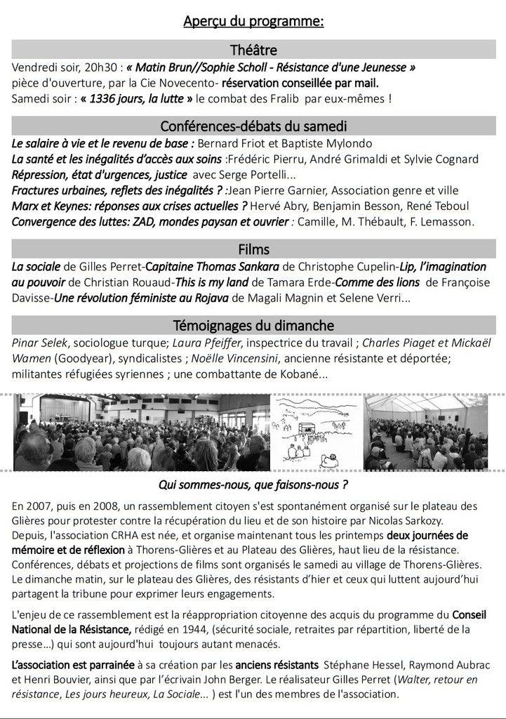 HAUTE-SAVOIE : Rassemblement des GLIÈRES 2016 - les 20 - 21 et 22 mai 2016