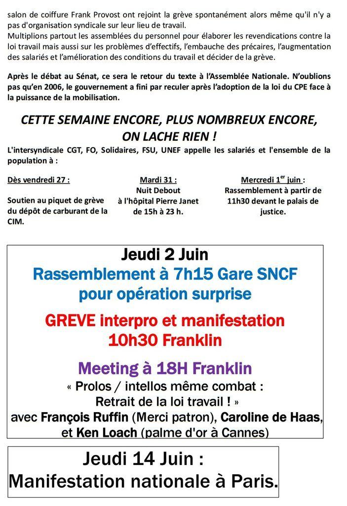 LE HAVRE (Seine-Maritime) : Forte MOBILISATION contre la loi travail
