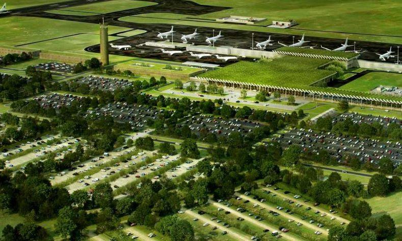 Image de synthèse du futur aéroport du Grand Ouest