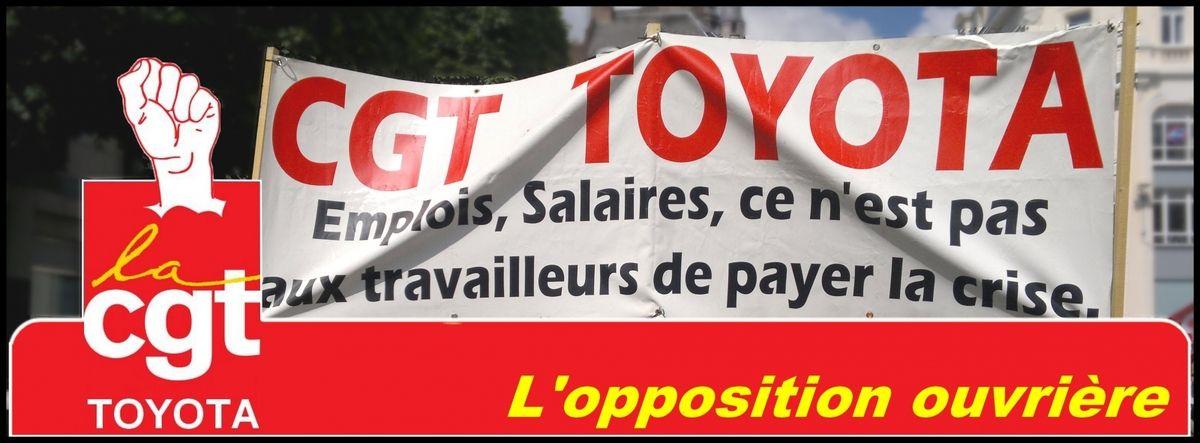 """Usine TOYOTA à ONNAING (Nord) : """"Aggravation des pressions et multiplication des sanctions""""  (le tract de la CGT)"""