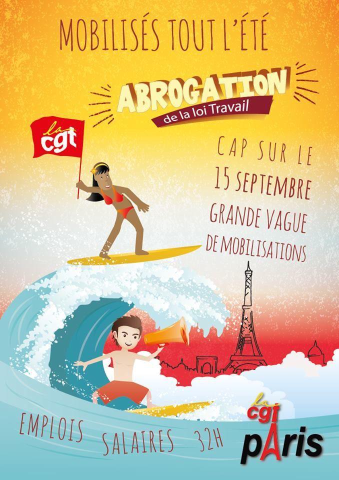 Abrogation de la LOl TRAVAIL : cap sur le 15 SEPTEMBRE ! (CGT Paris)