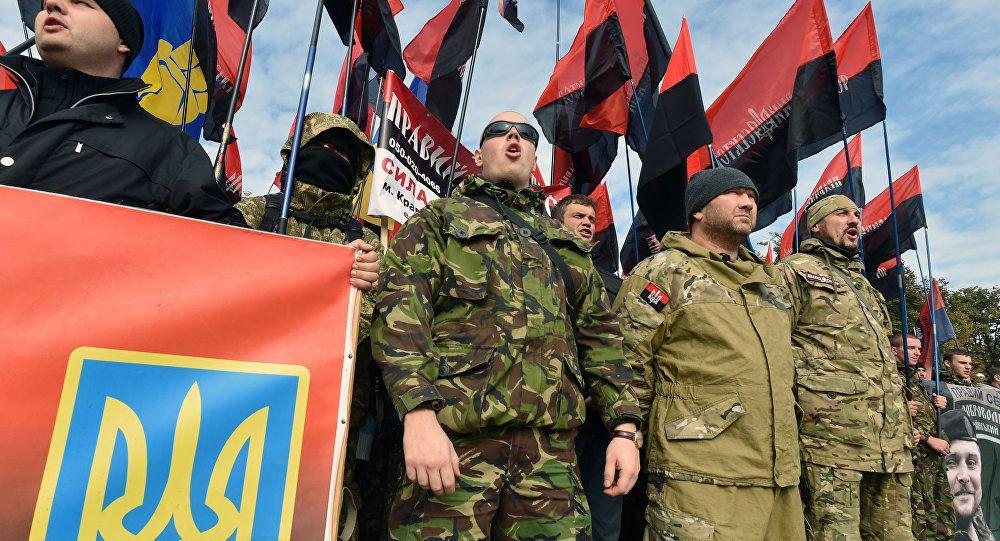 L'extrême-droite manifeste dans les rues de Kiev  (source: fr.sputniknews.com)