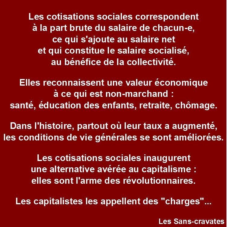 « Charges patronales » ou COTISATIONS sociales ? SOYONS CLAIRS !