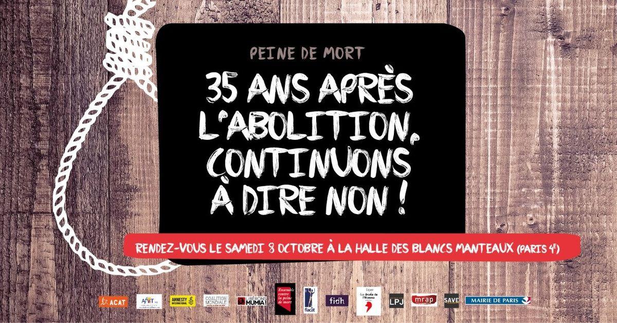 [Soutien Mumia Abu Jamal] Journée mondiale contre la peine de mort : ÉVÉNEMENT à PARIS samedi 8 octobre 2016