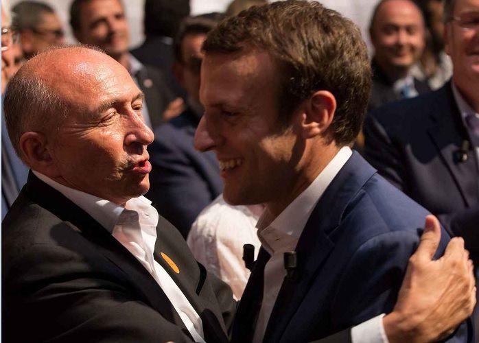 Gérard Collomb, maire PS de Lyon avec Emmanuel Macron (source: 20minutes.fr)