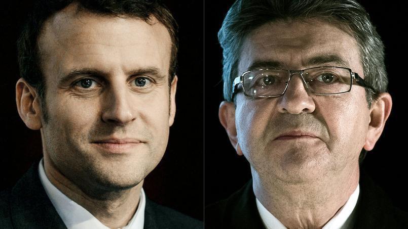 Macron et Mélenchon