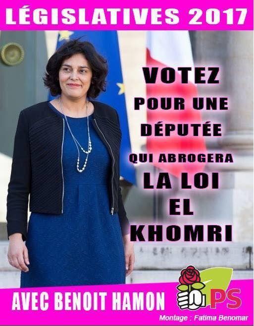 LÉGISLATIVES 2017 : EL KHOMRI , candidate PS soutenu par HAMON ou l'art de se moquer du monde !