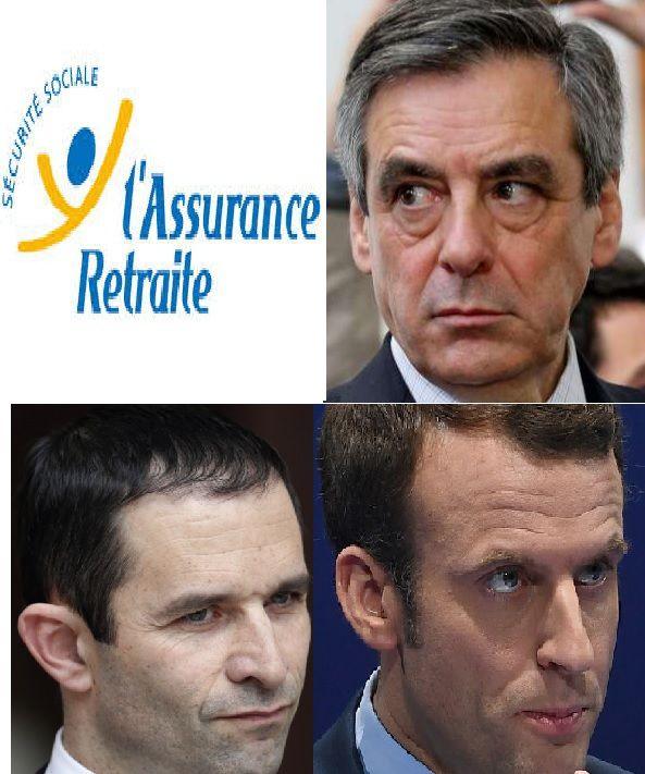 Pour nos RETRAITES, merci Fillon, Macron et Hamon !