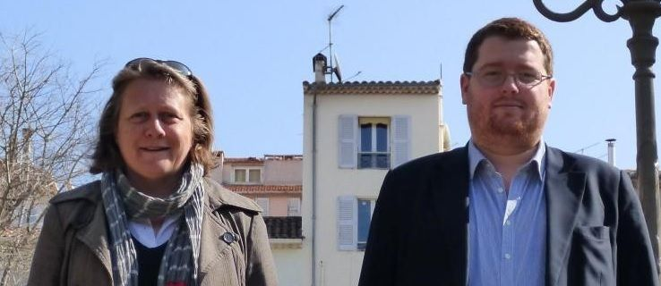 Cécile Dumas et Arnaud Delcasse. V.B (source photo : nice-matin)