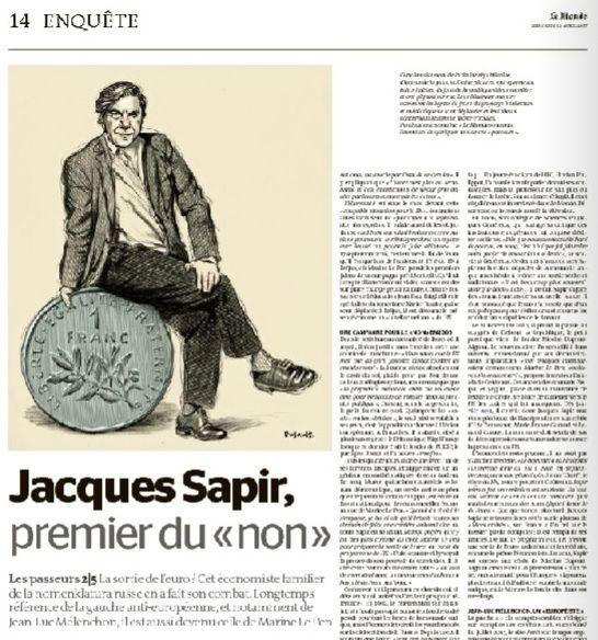 NAUFRAGE d'une journaliste, dérive du JOURNALISME (par Jacques SAPIR)
