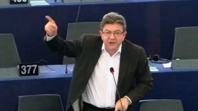 Photo d'illustration : Jean-Luc Mélenchon au parlement européen (source : Agoravox TV)