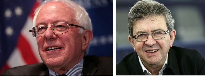 Bernie Sanders et Jean-Luc Mélenchon (photo montage d'illustration)