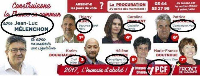 CAMPAGNE des LÉGISLATIVES : Les petites manipulations peu glorieuses des dirigeants du PCF...