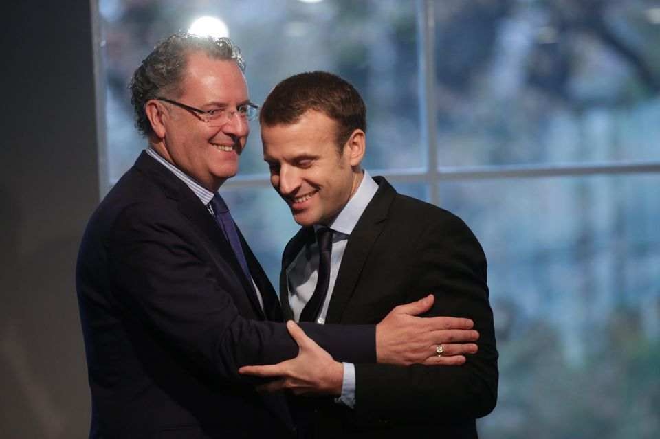 Richard Ferrand avec Emmanuel Macron (source photo: libération)