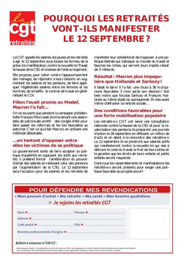 Pourquoi Les Retraites Vont Ils Manifester Le 12 Septembre 2017