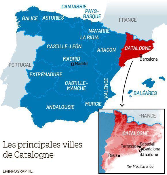 Carte Espagne La Catalogne.A Propos Du Referendum En Catalogne L Analyse De Barbara