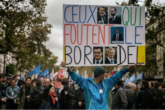 manifestation parisienne le 10 octobre 2017 (source : FB)