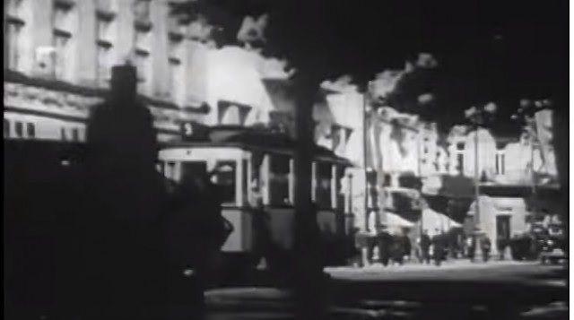 Des Juifs à Lviv, en Ukraine en 1938 (capture d'écran YouTube)