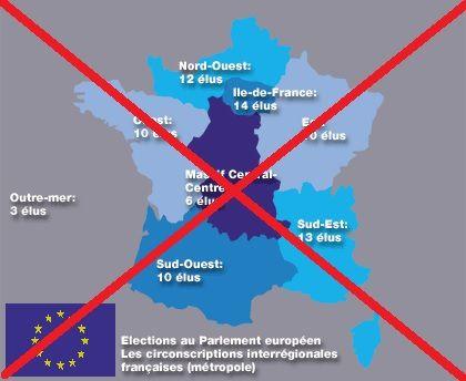 La loi électorale d'avril 2003 avait créé huit circonscriptions, pour l'élection des députés français au parlement européen.