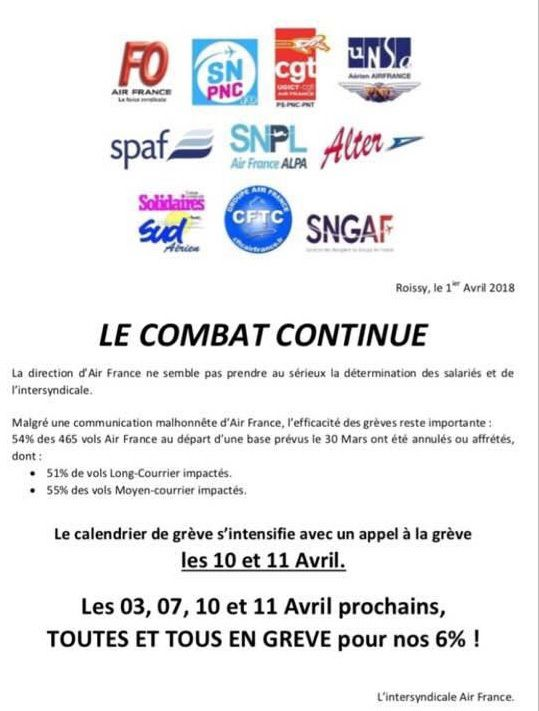 Calendrier Greves Air France.Augmentez Nos Salaires Le Personnel D Air France Se