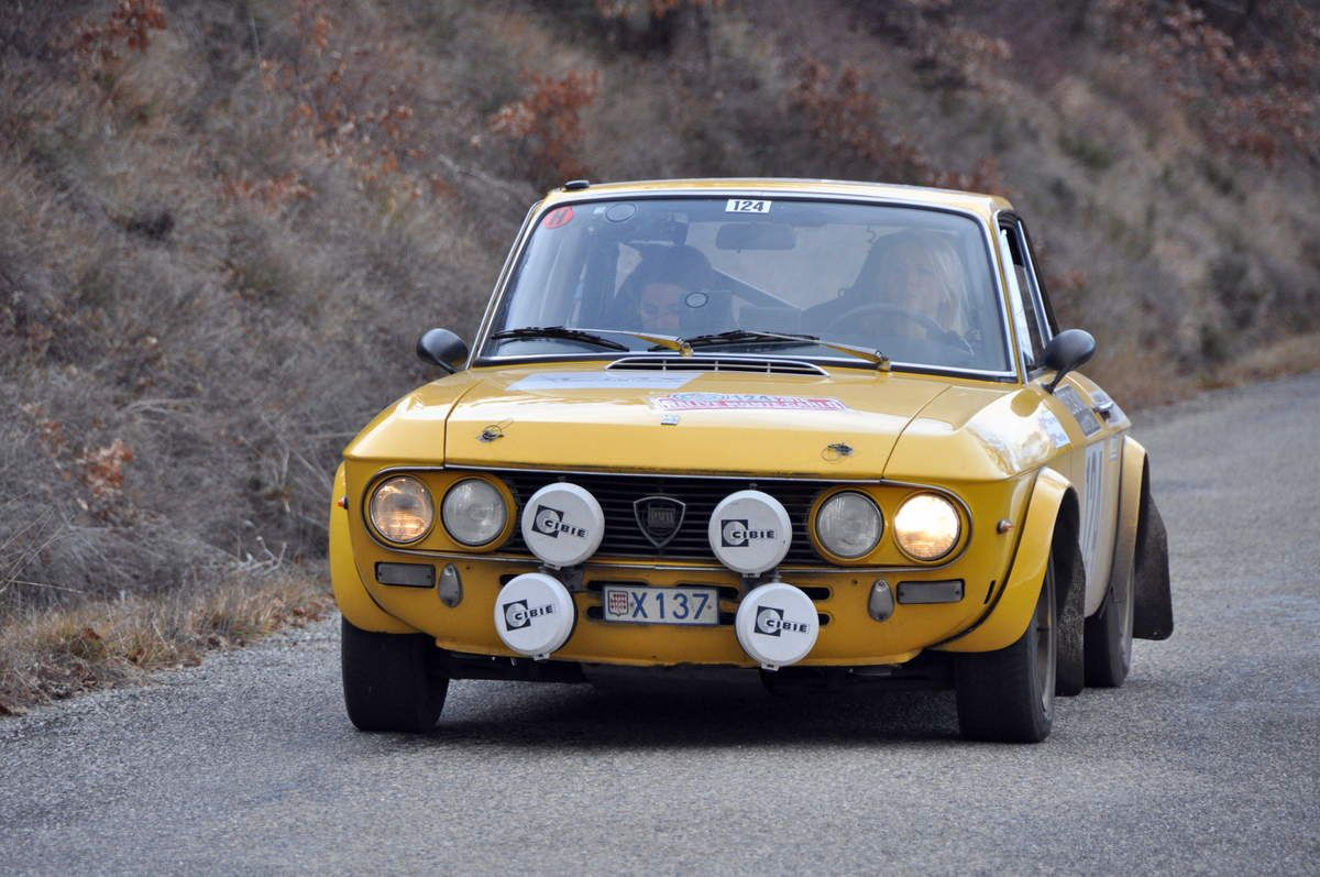 Tiffaney Perlino(MC)/Harriet Ross(GB) Lancia Fulvia 1600 HF  .....  Photo : Rémi Saumont