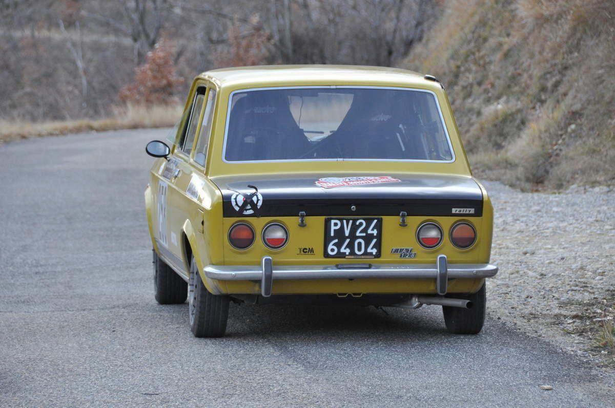Gian Mario Fontanella(I)/Stefano Scrivani(I) Fiat 128 Rally 1971 (14 ième)