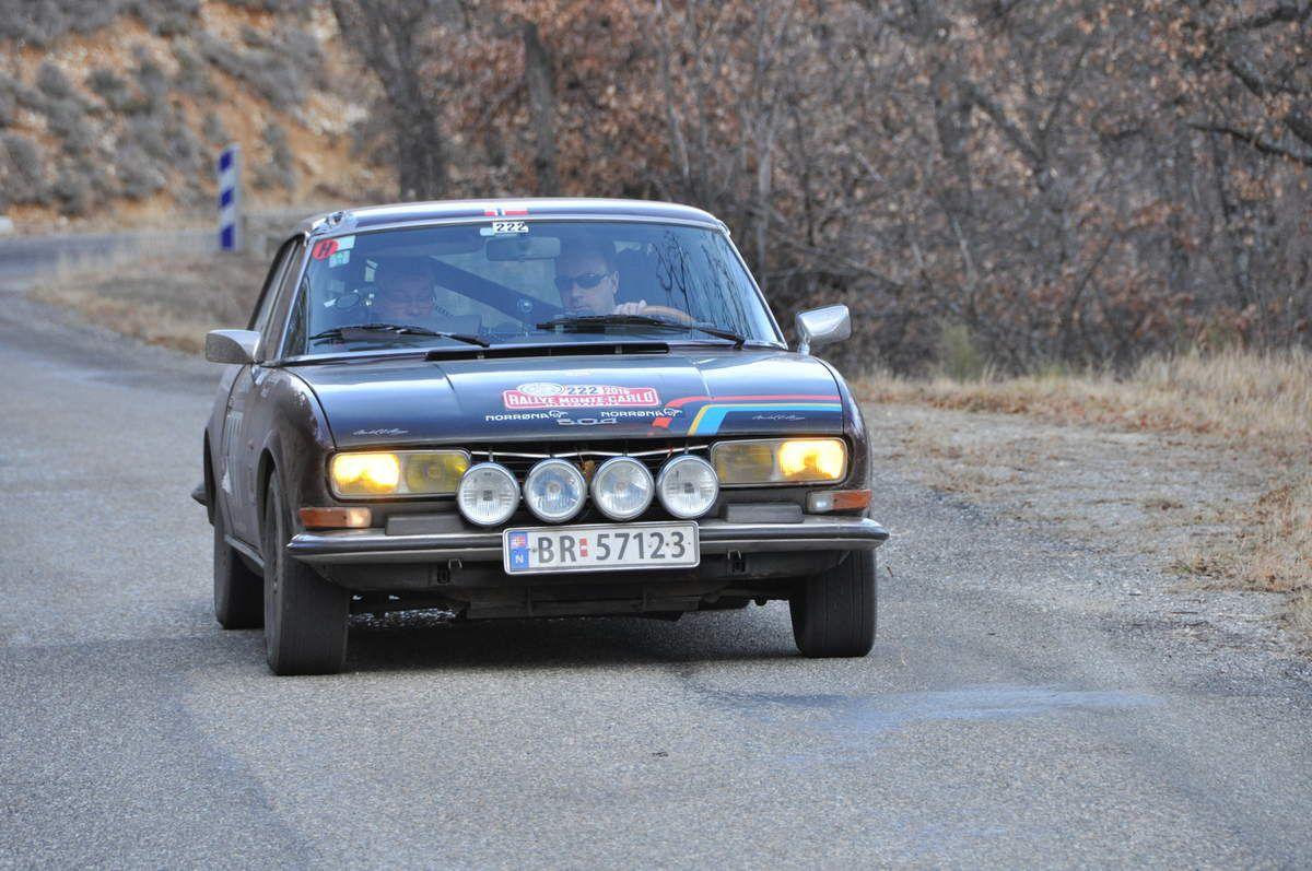 Arne Dagfinn Lid(N)/Olaf Hauge(N) Peugeot 504 Coupé V6 1975 (255ième)