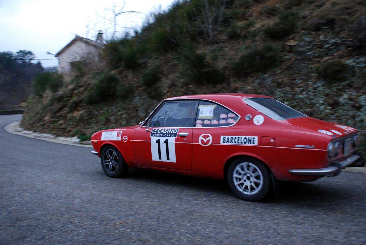 Serge Garosi(F)/Bernard Vialar(F) Mazda RX2 1972 ..... Photo : H.C.
