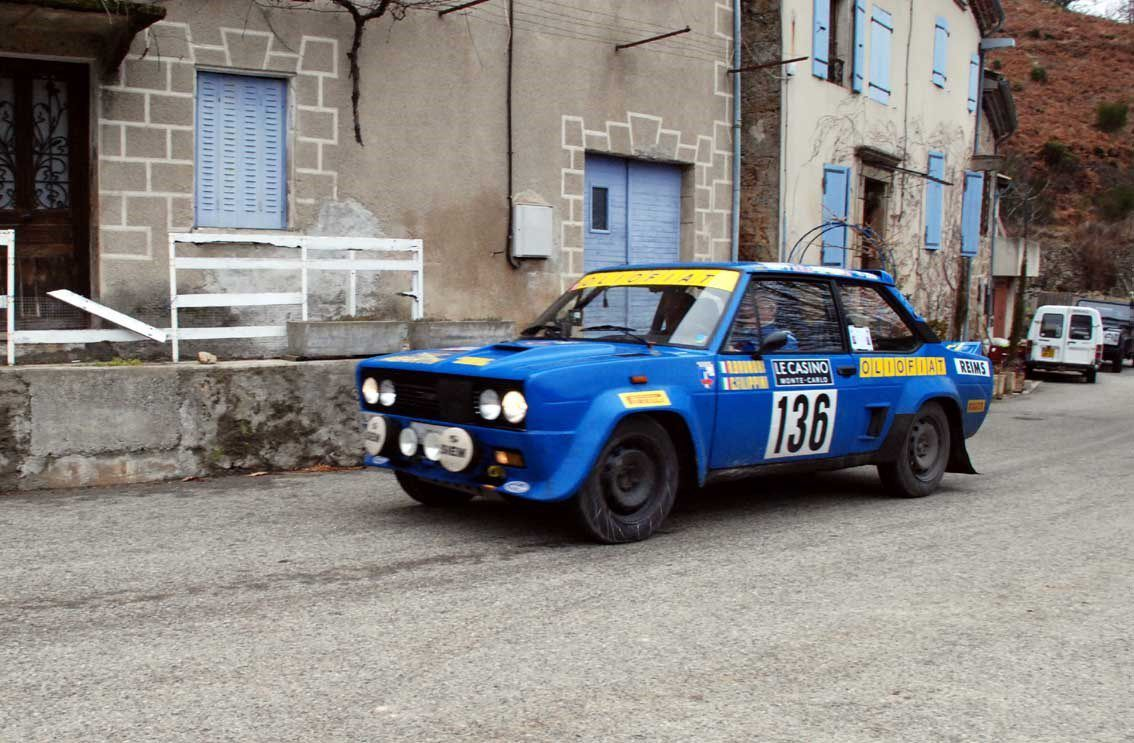 Ruggero Brunori(I)/Claudio Filippini(I) Fiat 131 Abarth 1976 ..... Photo : H.C.
