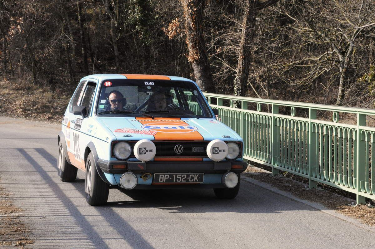 Thierry et Wilfried Besnier(F) Volskwagen Golf GTI 1979 ..... Photo : R.S.