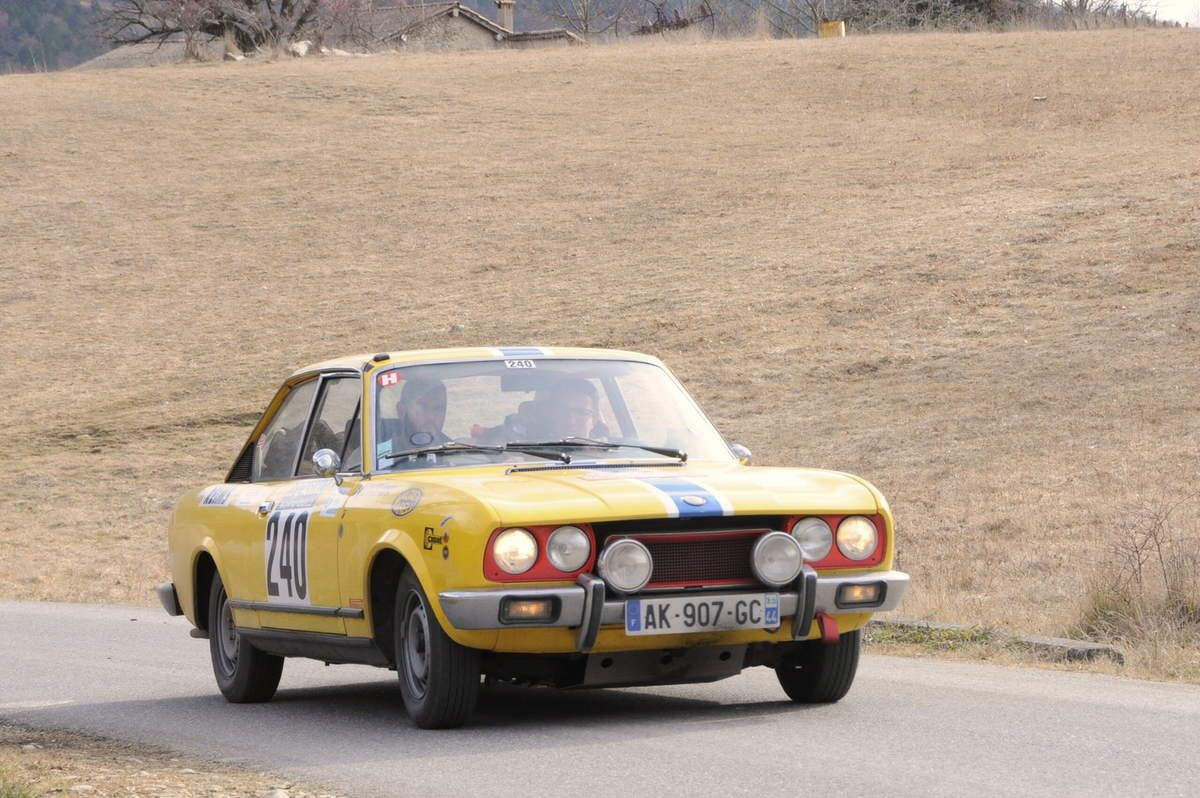Jean Poilvert(F)/Erwan Legrand(F) Fiat 124 Coupé 1973 ...... Photo : R.S.