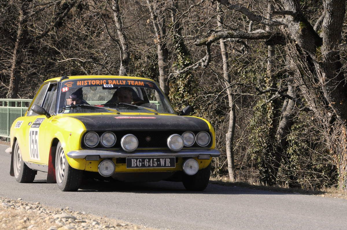 David Maneval(F)/Benjamin Cuoq(F) Fiat 124 Coupé 1971 ..... Photo : R.S.