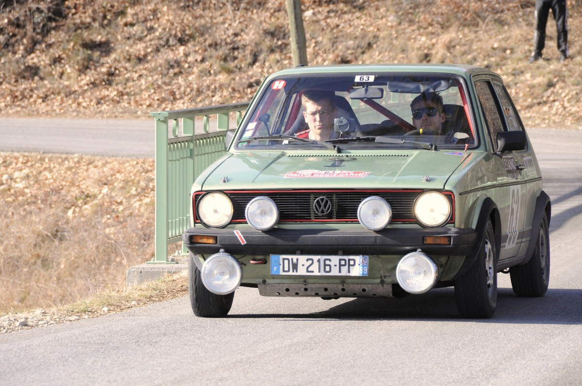 Jules et Paul Sapet(F) Volskwagen Golf GTI 1979 ..... Photo : R.S.