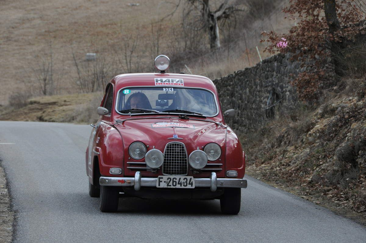 Stig Gjestrum(N)/Harald Faugstad(N) Saab 96 1961 ..... Photo : R.S.