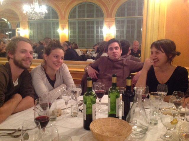 un bon diner à l'hotel de FRance pour finir cette soirée pleine d'émotions..