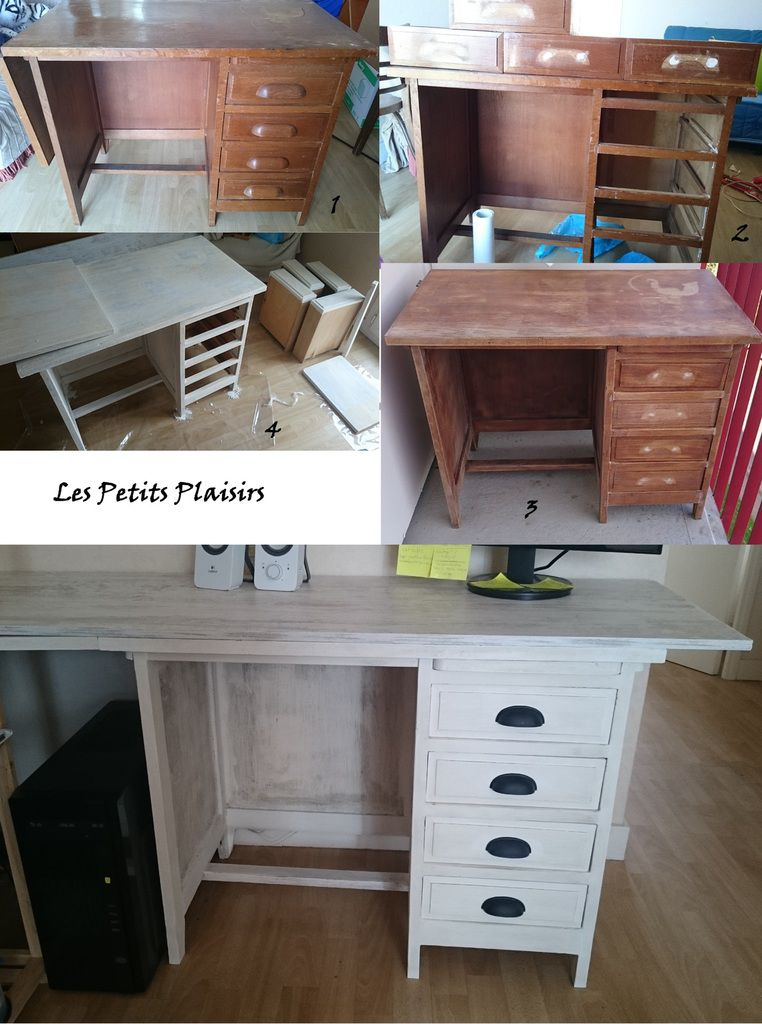 customiser un bureau en bois