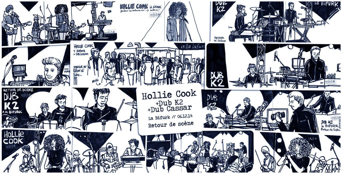 Croquis de concert : Hollie Cook