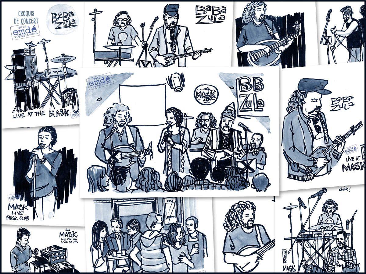 Baba Zula à Istanbul // croquis de concert
