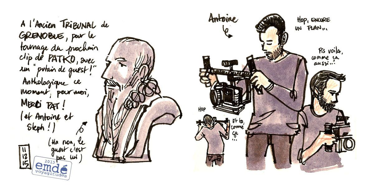 "croquis du tournage du clip ""Kingdom of ashes"" de Patko ('maroon') // emdé, 2015"