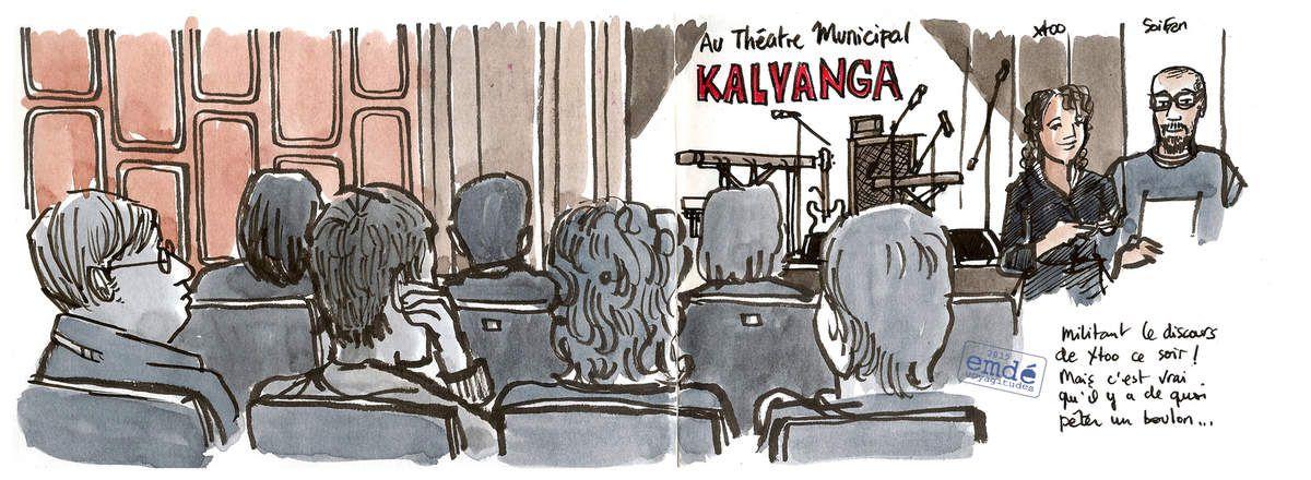 croquis de concert : Kalyanga et la Cie La Batook, emdé 2015