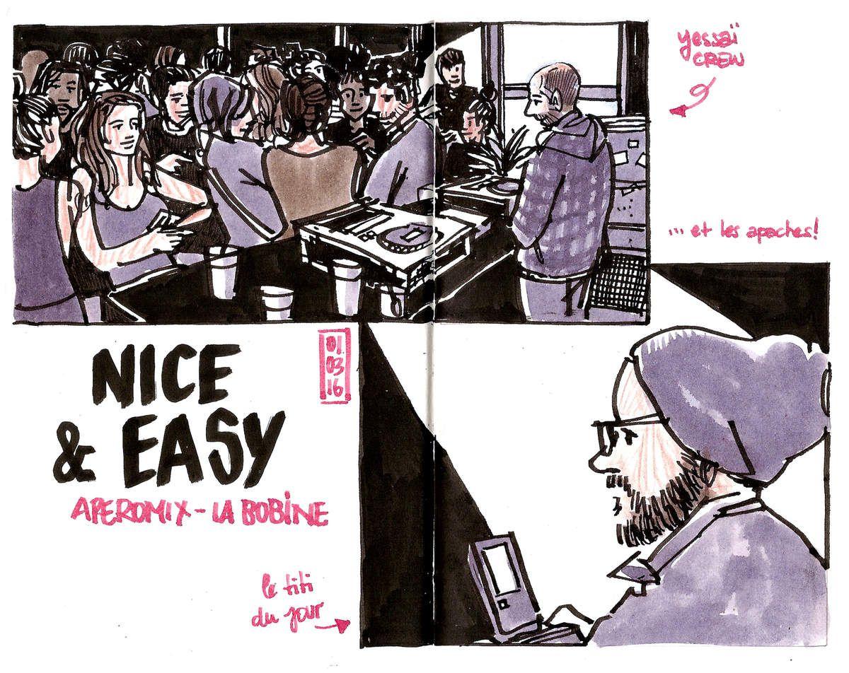 Nice and Easy à La Bobine // croquis de concert // emdé, 2016