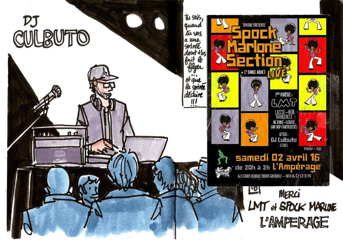 Spock Marlone Section - LMT // Croquis de concert // emdé, 2016