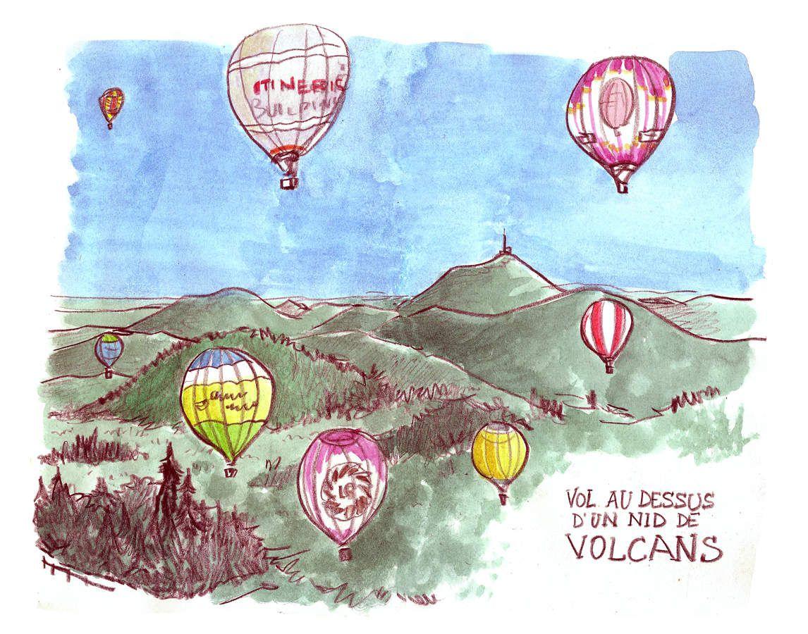 Vol au dessu d'un nid de volcans 2016 // emdé, voyagitudes