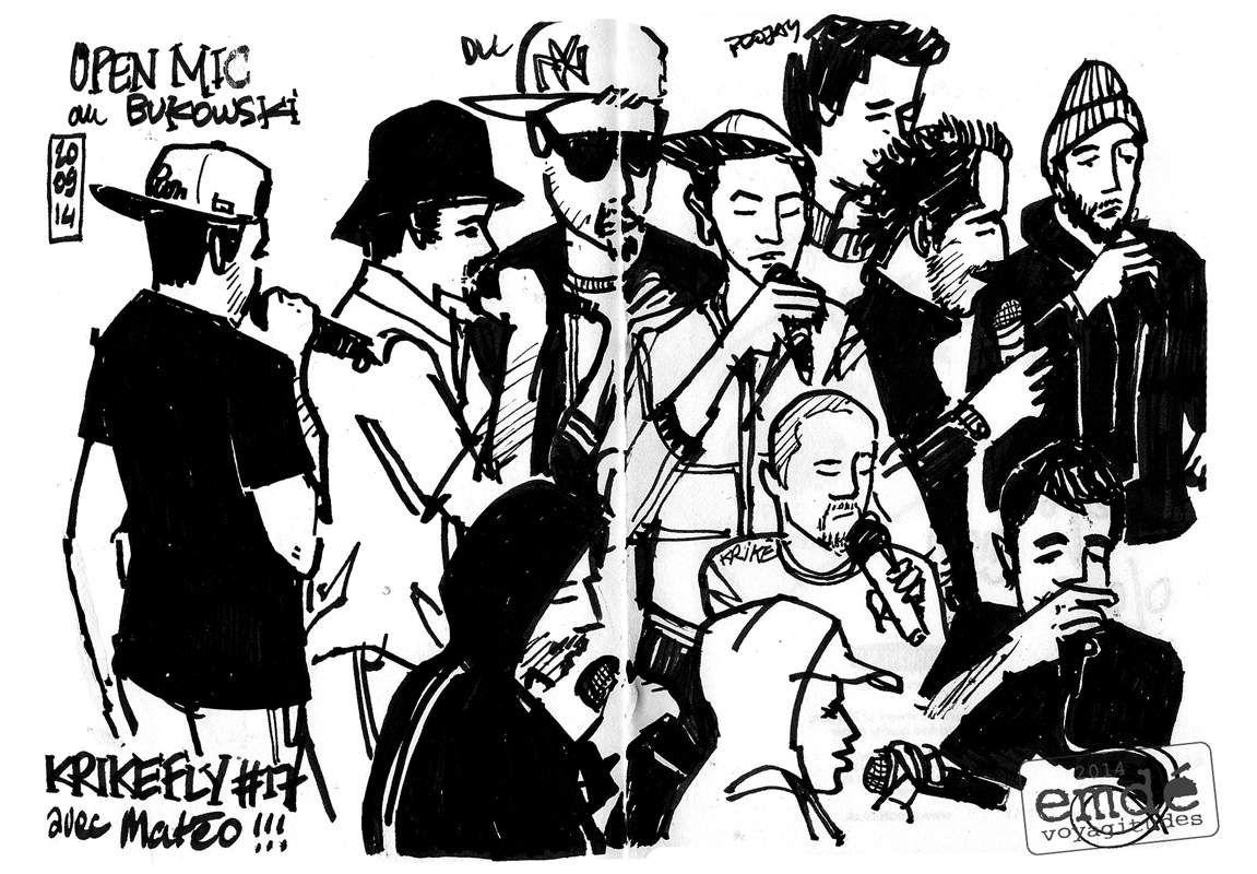 krikefly#17 // croquis de concert // emdé, 2014