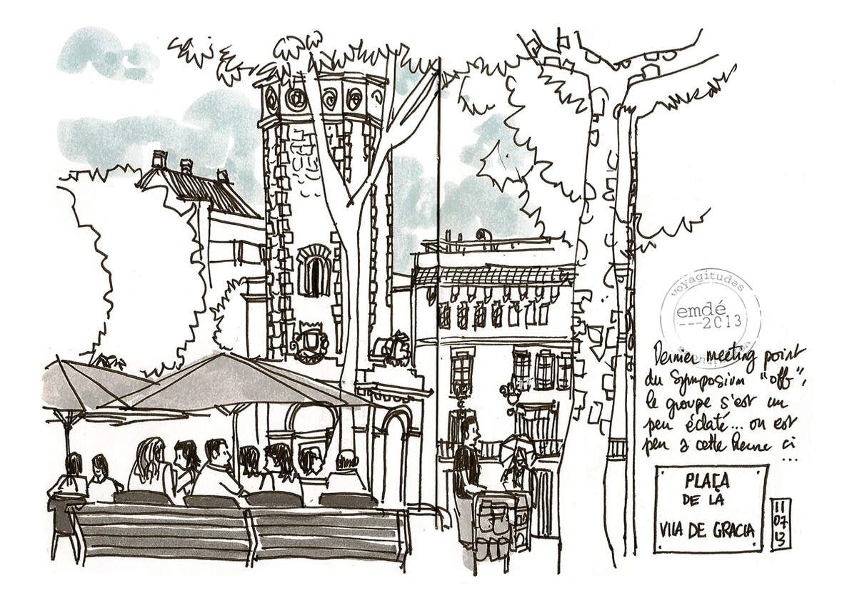 Urban Sketchers Symposium Barcelona // emdé, 2013