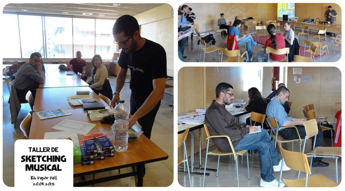 sketching Musical // Bibliotecas de Barcelona // emdé, 2013