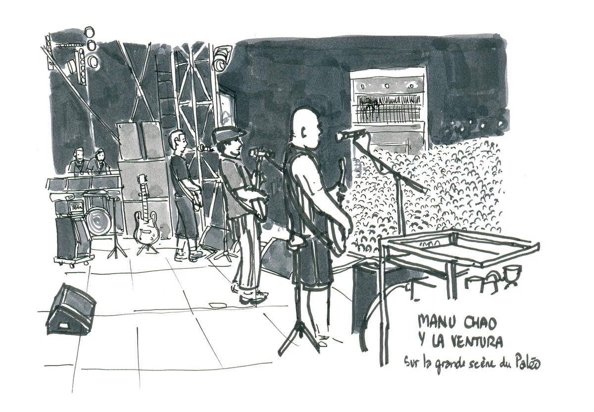 Paléo Festival, croquis de Festival // emdé, 2012